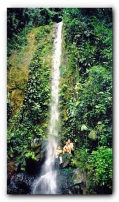 This is just one of the 5 waterfalls at  Las Aguas Jungle Lodge
